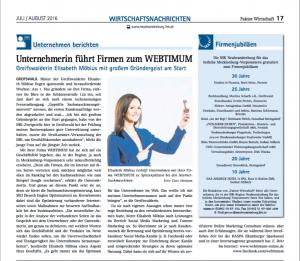 WEBTIMUM in IHK Faktor Wirtschaft