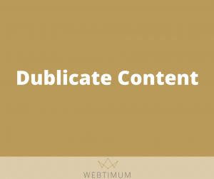 Dublicate Content