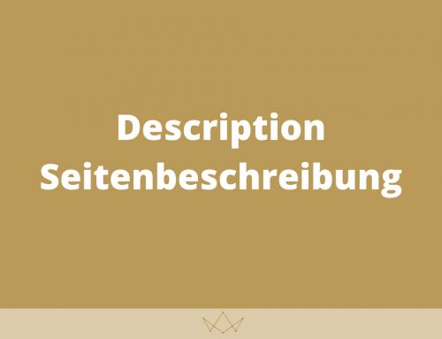 Description (Seitenbeschreibung)