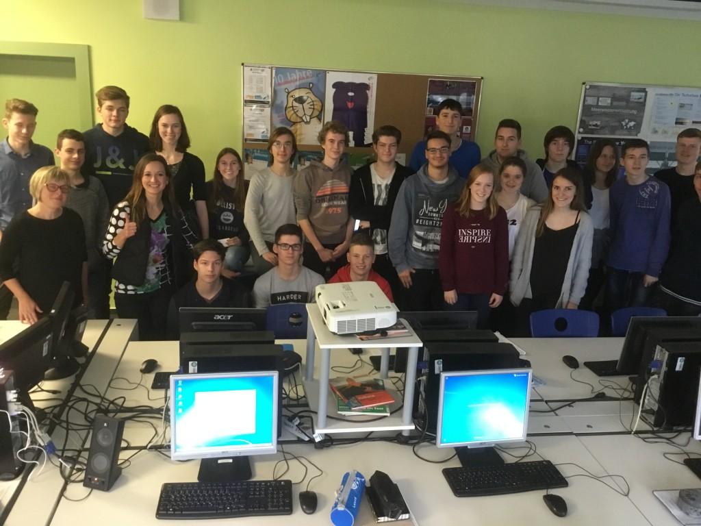WEBTIMUM und Vortrag vor Schulklasse