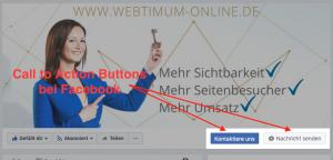 Zwei Facebook-Call-to-Action-Buttons