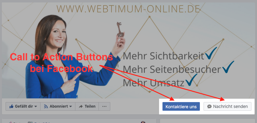 Zwei Facebook-Call-to-Action-Buttons