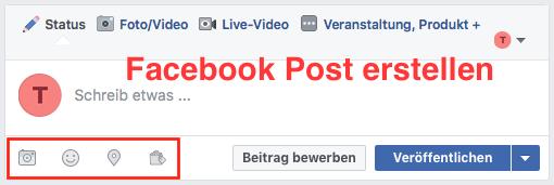 Facebook-Post-erstellen