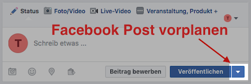 Facebook-Post-vorplanen
