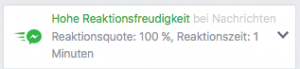 Facebook-Hohe Reaktionsfreudigkeit