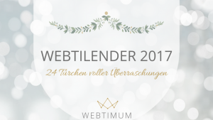 WEBTILENDER 2017 - jeden Tag ein spannendes Türchen öffnen