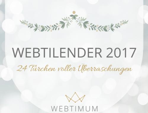 WEBTILENDER 2017 – Online-Adventskalender von WEBTIMUM ☆