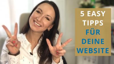 5 einfache Tipps für deine Website