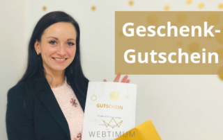 WEBTIMUM-Geschenkgutschein für ein persönliches Coaching zu Suchmaschinenoptimierung (SEO) sowie Facebook-Marketing und Instagram-Marketing