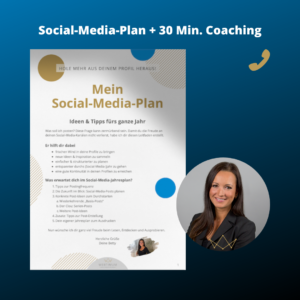 Social-Media-Plan mit 30 Minuten persönlichem Coaching WEBTIMUM Produktbild