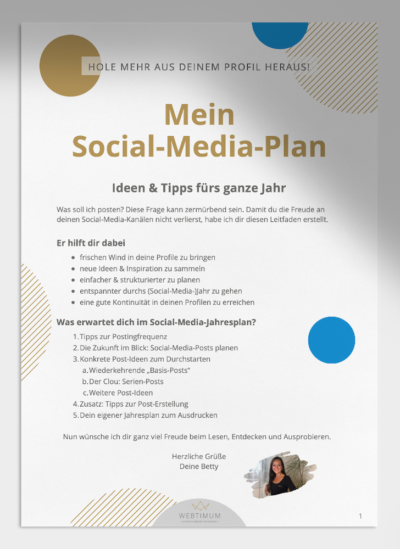 Vorschau vom Social-Media-Plan von WEBTIMUM