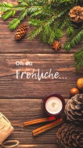 WEBTIMUM Wallpaper Dezember Handy Oh du Fröhliche