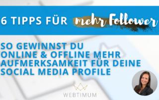 Online und offline mehr Follower für deine Social Media Profile gewinnen
